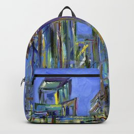 Blue Philadelphia Skyline Backpack