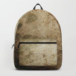 Antique Vintage Worn Decor Paper Backpack