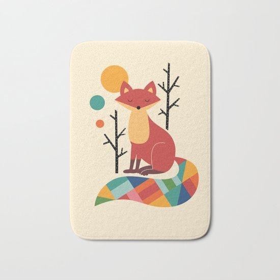 Rainbow Fox Bath Mat