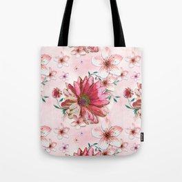 Floral Coral Tote Bag
