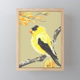 Yellow Finch Framed Mini Art Print