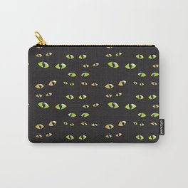 We're watching you with green eyes Carry-All Pouch