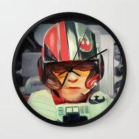 rebel Wall Clocks featuring Rebel by Rabassa