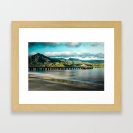 Sunrise at Hanalei Framed Art Print