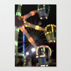 Seaside Boardwalk Lights Canvas Print