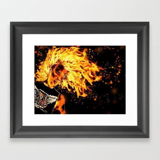 I am the Fire Starter. Framed Art Print