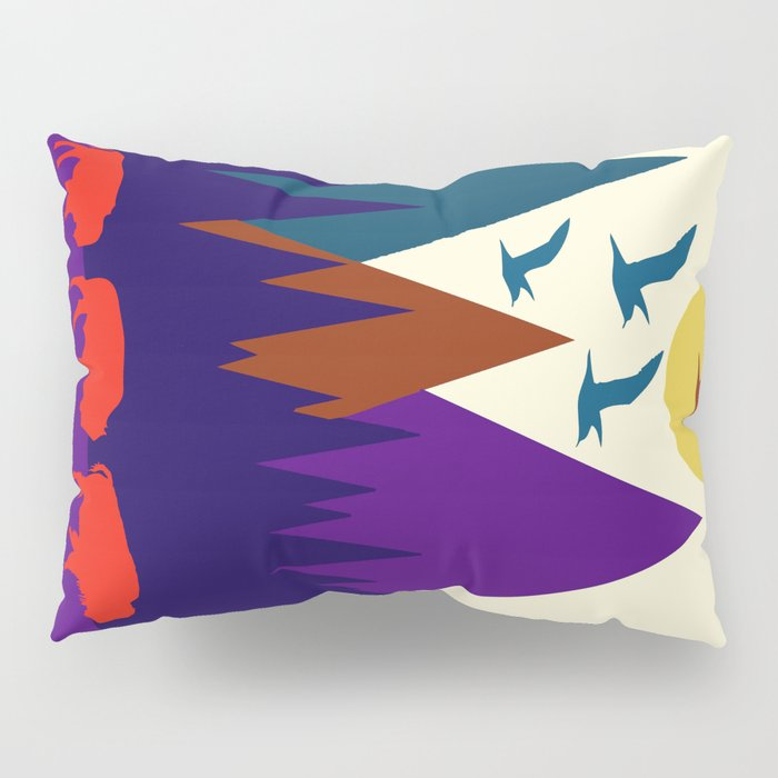 Three Bison Pillow Sham