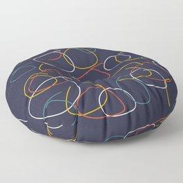 Crooked Circles #2 Floor Pillow