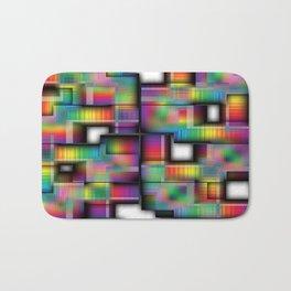 Puzzled Plaid Bath Mat