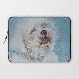 Bichon Frise dog art Fine Art Dog Painting by L.A.Shepard Laptop Sleeve