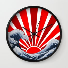 Great Wave of the Rising Sun Wall Clock