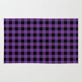 Plaid (purple/black) Rug