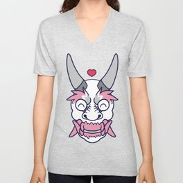 DEMI GIRL PRIDE Oni Unisex V-Neck