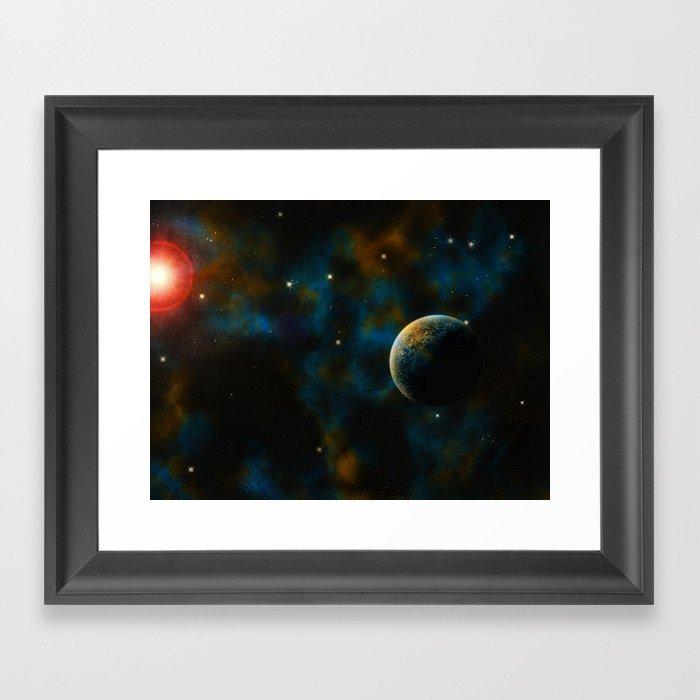 Deus Nebula Framed Art Print