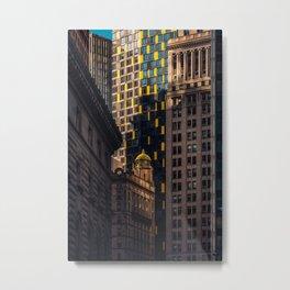 Urban Jungle - Skyscrapers in Financial District Lower Manhattan Metal Print