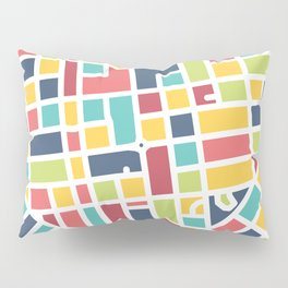 Lancaster, PA Block Map Pillow Sham