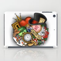 alice in wonderland iPad Cases featuring Wonderland  by Katie Simpson a.k.a. Redhead-K