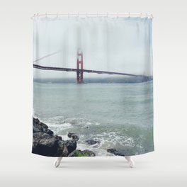 Golden Gate Bridge, San Francisco Rocks Shower Curtain