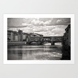 The Ponte Vecchio in Florence Art Print