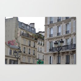Strolling in Paris Canvas Print