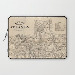 1906 Map of Atlanta, GA Laptop Sleeve