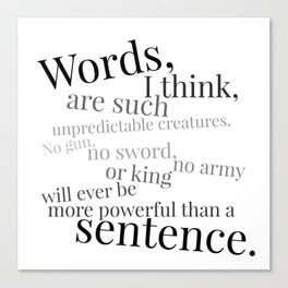 Words and Sentences Canvas Print