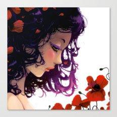 Les fleurs rouges... Canvas Print
