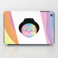 bondage iPad Cases featuring Royal Hippie Rainbow Bondage Bear by YOSH FRIDAY