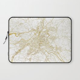 Bern Map Gold Laptop Sleeve