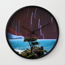 Lone Cypress Stars Wall Clock