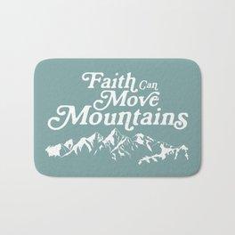 Retro Faith can Move Mountains Bath Mat
