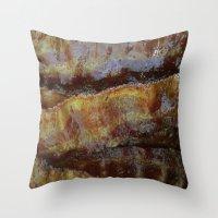 bacon Throw Pillows featuring Bacon by John Grey