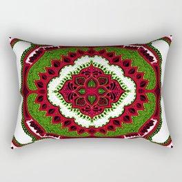 Mandala Floral Pattern Design Art Doodle Rectangular Pillow