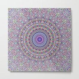 Pastel Jungle Garden Mandala Metal Print