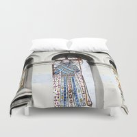 religion Duvet Covers featuring religion by Hannah