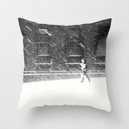 Snow Surfer Throw Pillow