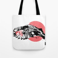 hustle Tote Bags featuring hustle by KUI29