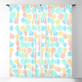 Colorful pineapple pattern Blackout Curtain