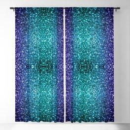 Beautiful Aqua blue Ombre glitter sparkles Blackout Curtain
