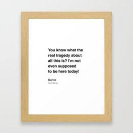 Clerks Quote 8 Framed Art Print