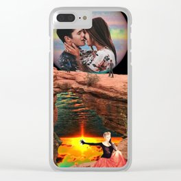 Starcrossed Lovers Clear iPhone Case