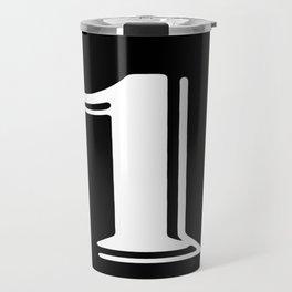 One black Travel Mug