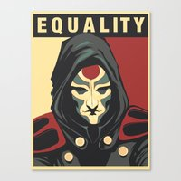 equality Canvas Prints featuring Equality by leibergart