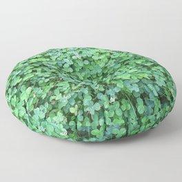 Green Clovers Nature Photo #GaneneKPhotogaphy #StPatricksDay Floor Pillow