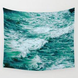 Teal Ocean Sea Waves - Summer Tropical Beach Wall Tapestry