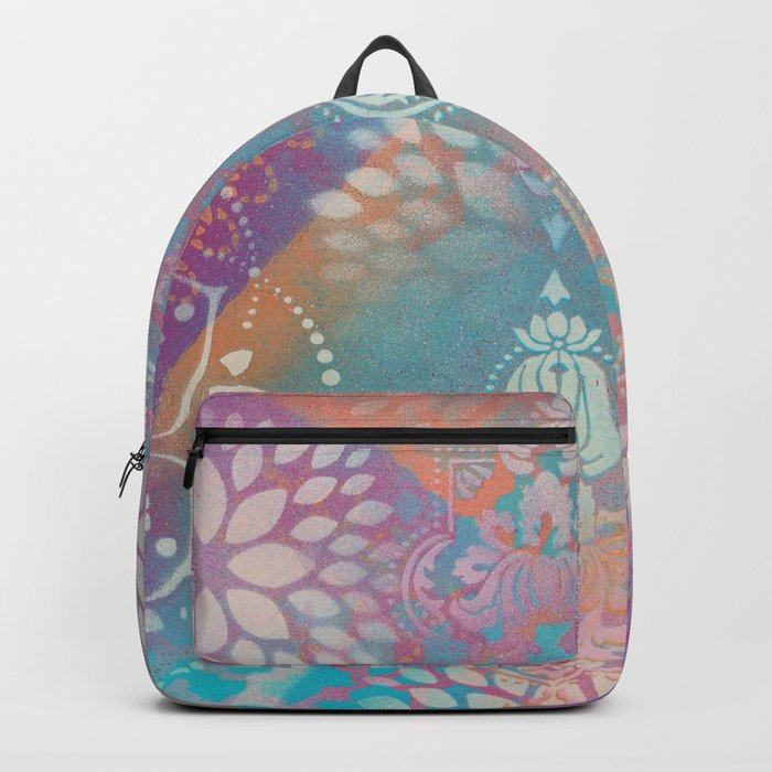 Colorful Spray Painted Patterns Backpack