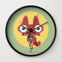 bicycle Wall Clocks featuring Bicycle by Maria Jose Da Luz