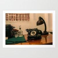 Bulgakov's phone  Art Print