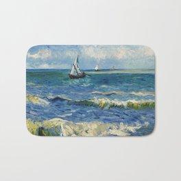 Seascape near Les Saintes-Maries-de-la-Mer by Vincent van Gogh Bath Mat