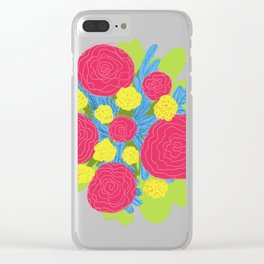 Bouquet #3 Clear iPhone Case